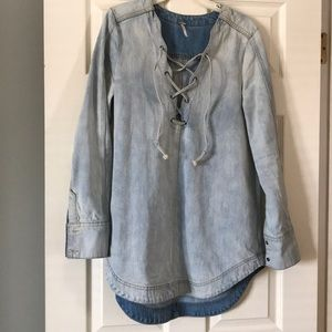 FreePeople denim tunic